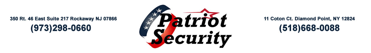 Patriot Security , Access Control Morris County NJ , Surveillance Systems Morris County NJ
